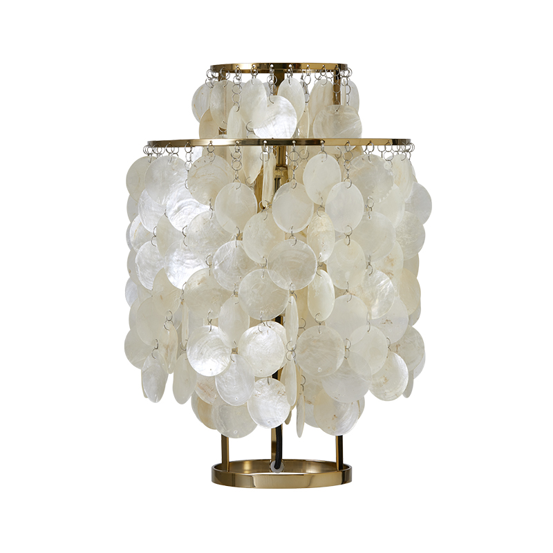 Verpan Fun 2TM Table Lamp in Brass by Verner Panton
