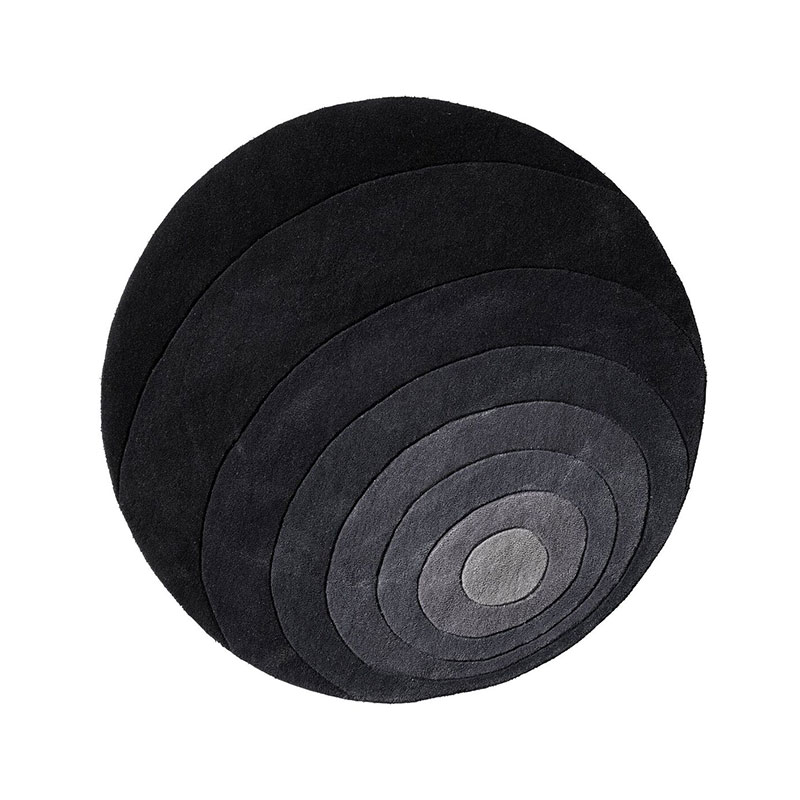 Verpan Luna Ø120cm Rug by Verner Panton Olson and Baker - Designer & Contemporary Sofas, Furniture - Olson and Baker showcases original designs from authentic, designer brands. Buy contemporary furniture, lighting, storage, sofas & chairs at Olson + Baker.