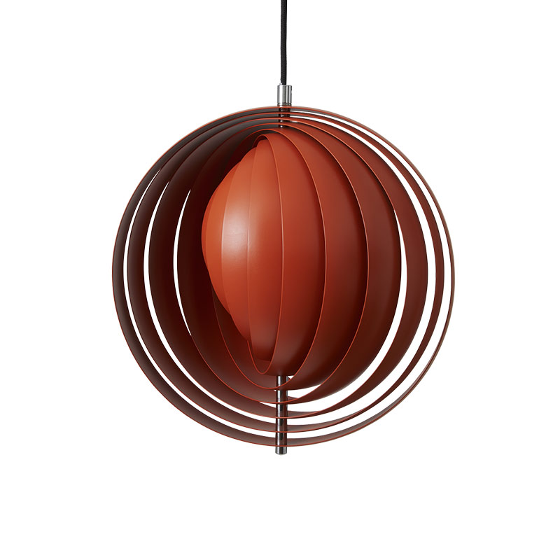 Verpan Moon Pendant Light in Orange by Verner Panton Olson and Baker - Designer & Contemporary Sofas, Furniture - Olson and Baker showcases original designs from authentic, designer brands. Buy contemporary furniture, lighting, storage, sofas & chairs at Olson + Baker.