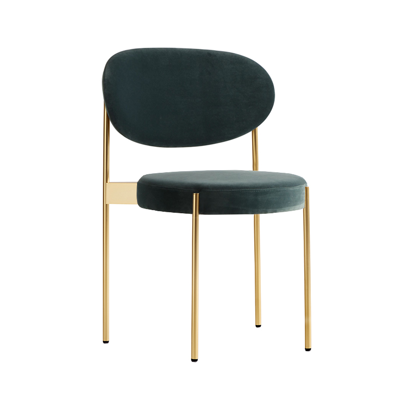Verpan Series 430 Chair with Brass Frame by Verner Panton Olson and Baker - Designer & Contemporary Sofas, Furniture - Olson and Baker showcases original designs from authentic, designer brands. Buy contemporary furniture, lighting, storage, sofas & chairs at Olson + Baker.