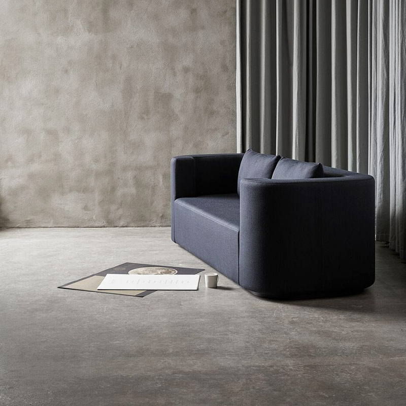 Verpan VP168 Three Seat Sofa by Verner Panton life 2 Olson and Baker - Designer & Contemporary Sofas, Furniture - Olson and Baker showcases original designs from authentic, designer brands. Buy contemporary furniture, lighting, storage, sofas & chairs at Olson + Baker.
