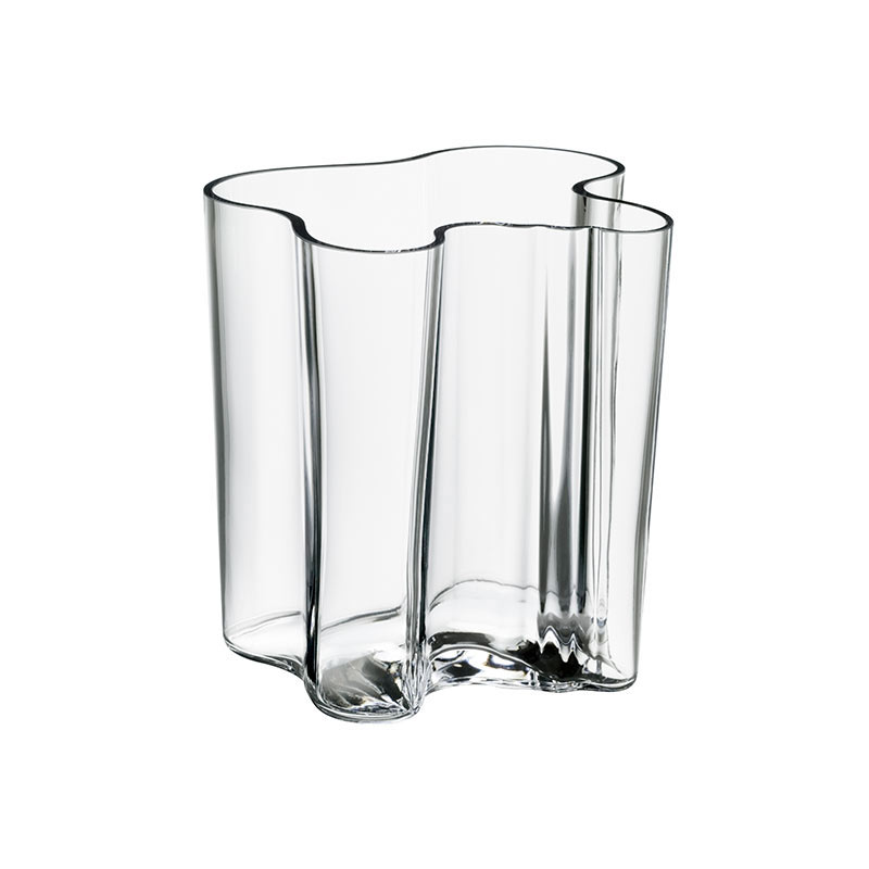 Iittala Aalto 200mm Glass Vase by Alvar Aalto Olson and Baker - Designer & Contemporary Sofas, Furniture - Olson and Baker showcases original designs from authentic, designer brands. Buy contemporary furniture, lighting, storage, sofas & chairs at Olson + Baker.