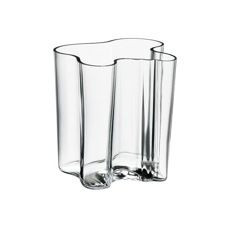 Iittala Aalto 200mm Glass Vase by Alvar Aalto