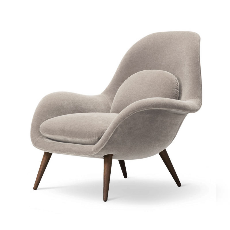 Fredericia Swoon Lounge Chair by Space Copenhagen Olson and Baker - Designer & Contemporary Sofas, Furniture - Olson and Baker showcases original designs from authentic, designer brands. Buy contemporary furniture, lighting, storage, sofas & chairs at Olson + Baker.