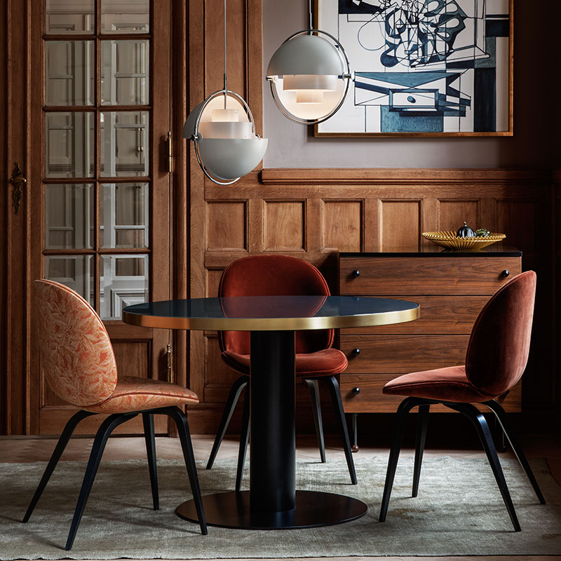 Gubi-Beetle-Chair-Fully-Upholstered-Lifeshot-01 Olson and Baker - Designer & Contemporary Sofas, Furniture - Olson and Baker showcases original designs from authentic, designer brands. Buy contemporary furniture, lighting, storage, sofas & chairs at Olson + Baker.
