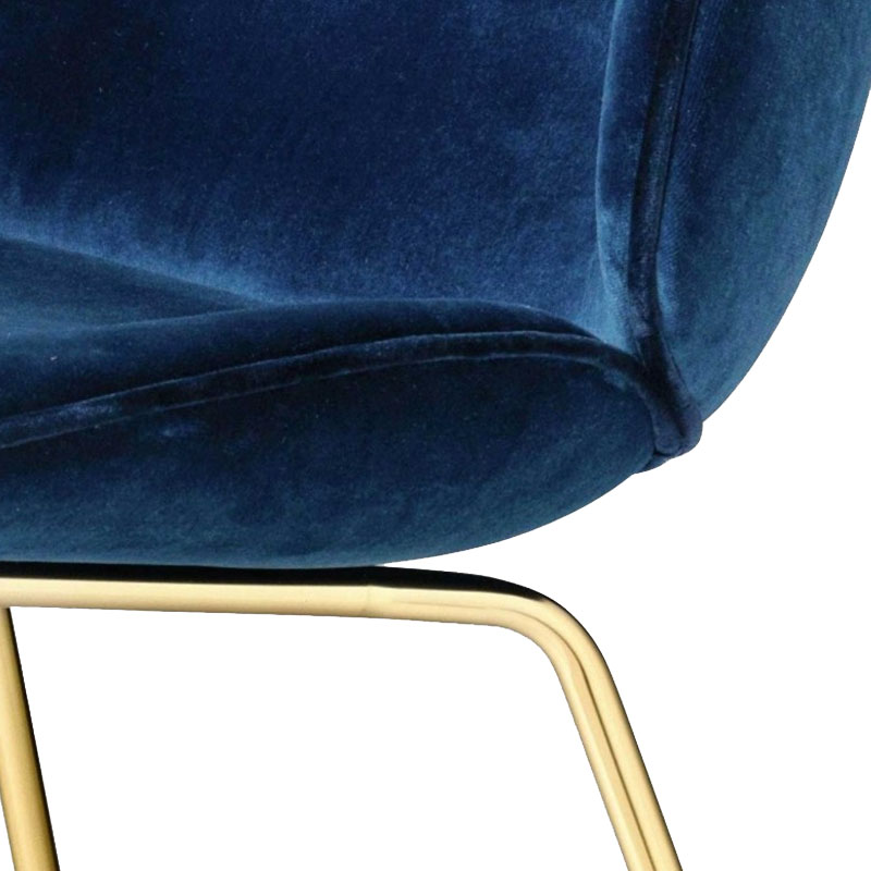 Gubi-Beetle-Chair-Sappire-Blue-420 Olson and Baker - Designer & Contemporary Sofas, Furniture - Olson and Baker showcases original designs from authentic, designer brands. Buy contemporary furniture, lighting, storage, sofas & chairs at Olson + Baker.