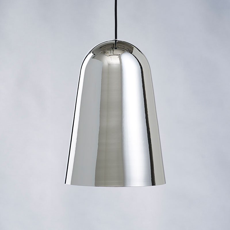 Made to Stay T-House Pendant Lamp by Carsten Jörgensen Silver with black cord life Olson and Baker - Designer & Contemporary Sofas, Furniture - Olson and Baker showcases original designs from authentic, designer brands. Buy contemporary furniture, lighting, storage, sofas & chairs at Olson + Baker.