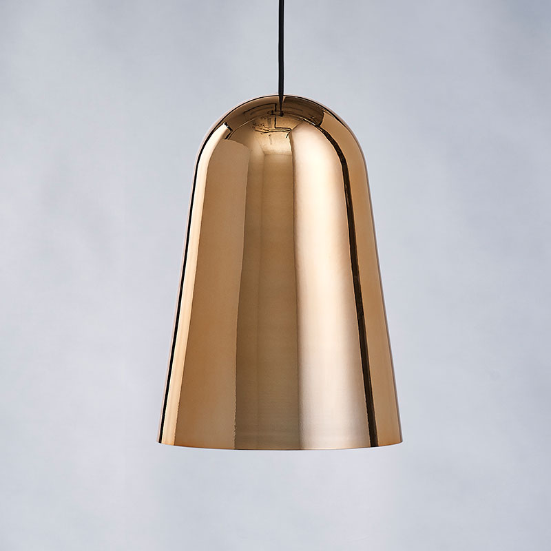Made to Stay T-House Pendant Lamp by Carsten Jörgensen gold with black cord life Olson and Baker - Designer & Contemporary Sofas, Furniture - Olson and Baker showcases original designs from authentic, designer brands. Buy contemporary furniture, lighting, storage, sofas & chairs at Olson + Baker.