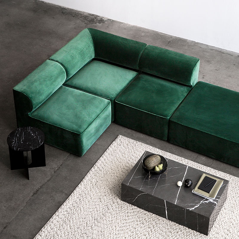 Menu Eave Pouf Module by Norm Architects Olson and Baker - Designer & Contemporary Sofas, Furniture - Olson and Baker showcases original designs from authentic, designer brands. Buy contemporary furniture, lighting, storage, sofas & chairs at Olson + Baker.