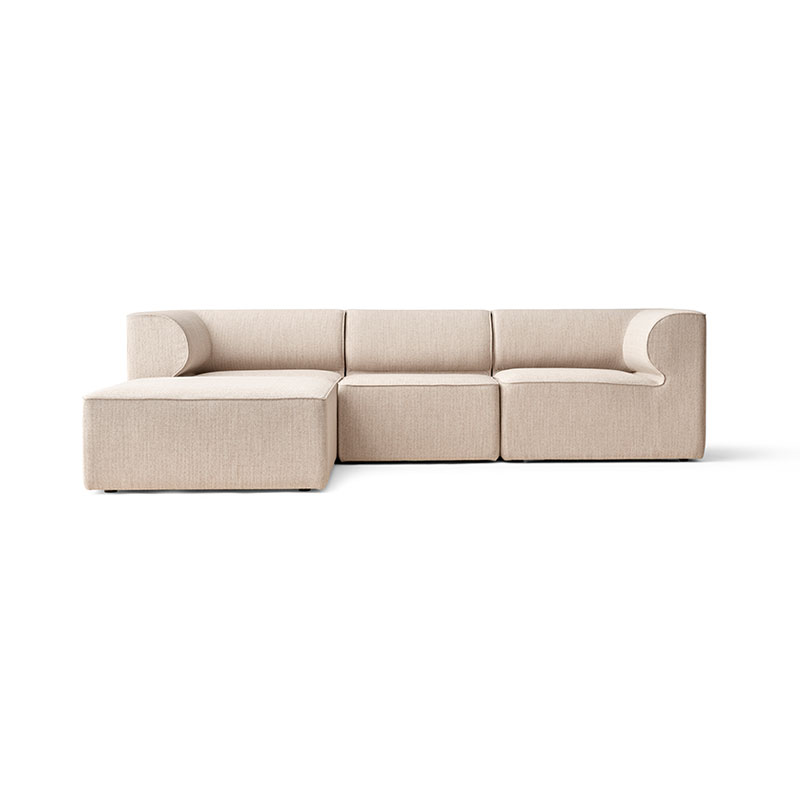 Menu Eave Modular Three Seat Sofa with Pouf Chaise by Norm Architects Olson and Baker - Designer & Contemporary Sofas, Furniture - Olson and Baker showcases original designs from authentic, designer brands. Buy contemporary furniture, lighting, storage, sofas & chairs at Olson + Baker.