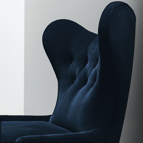 Ampère Lounge Chair in Velvet