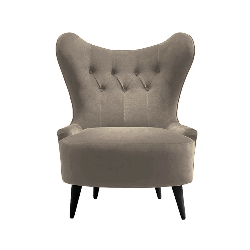 Olson and Baker Ampère Lounge Chair in Velvet by Olson and Baker Studio Olson and Baker - Designer & Contemporary Sofas, Furniture - Olson and Baker showcases original designs from authentic, designer brands. Buy contemporary furniture, lighting, storage, sofas & chairs at Olson + Baker.