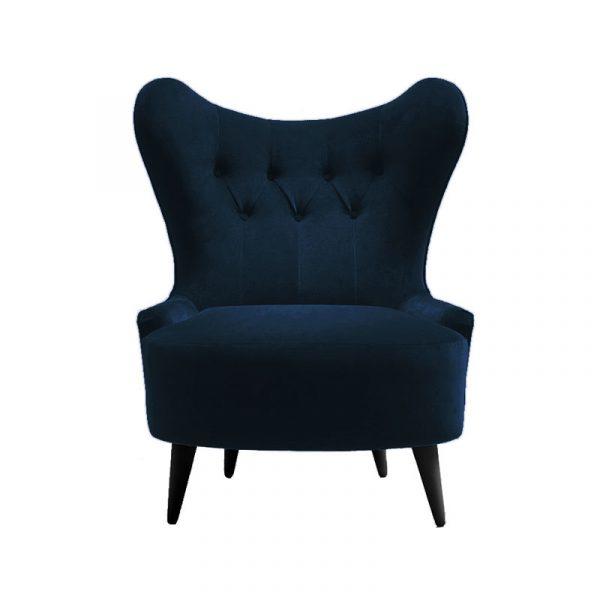 Ampère Lounge Chair in Velvet