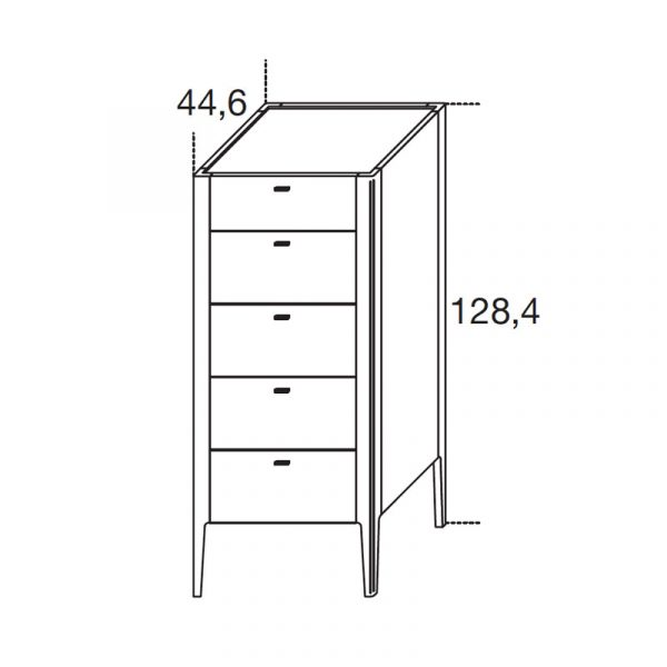 Baird Tallboy with Five Drawers