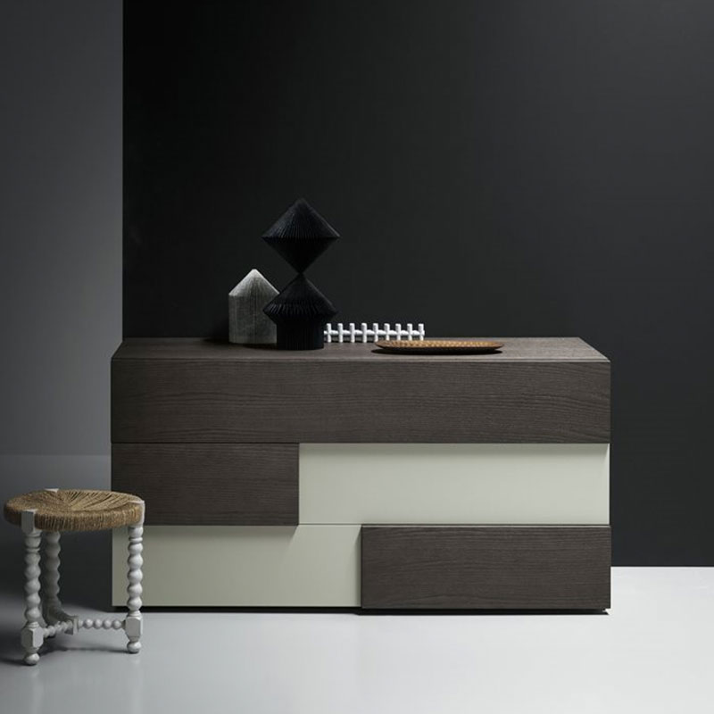 Burnell Chest of Drawers with Three Drawers by Olson and Baker Lifeshot 02 Olson and Baker - Designer & Contemporary Sofas, Furniture - Olson and Baker showcases original designs from authentic, designer brands. Buy contemporary furniture, lighting, storage, sofas & chairs at Olson + Baker.