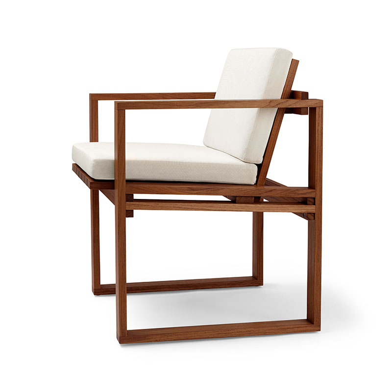 Carl Hansen BK10 Outdoor Dining Chair by Bodil Kjær Olson and Baker - Designer & Contemporary Sofas, Furniture - Olson and Baker showcases original designs from authentic, designer brands. Buy contemporary furniture, lighting, storage, sofas & chairs at Olson + Baker.