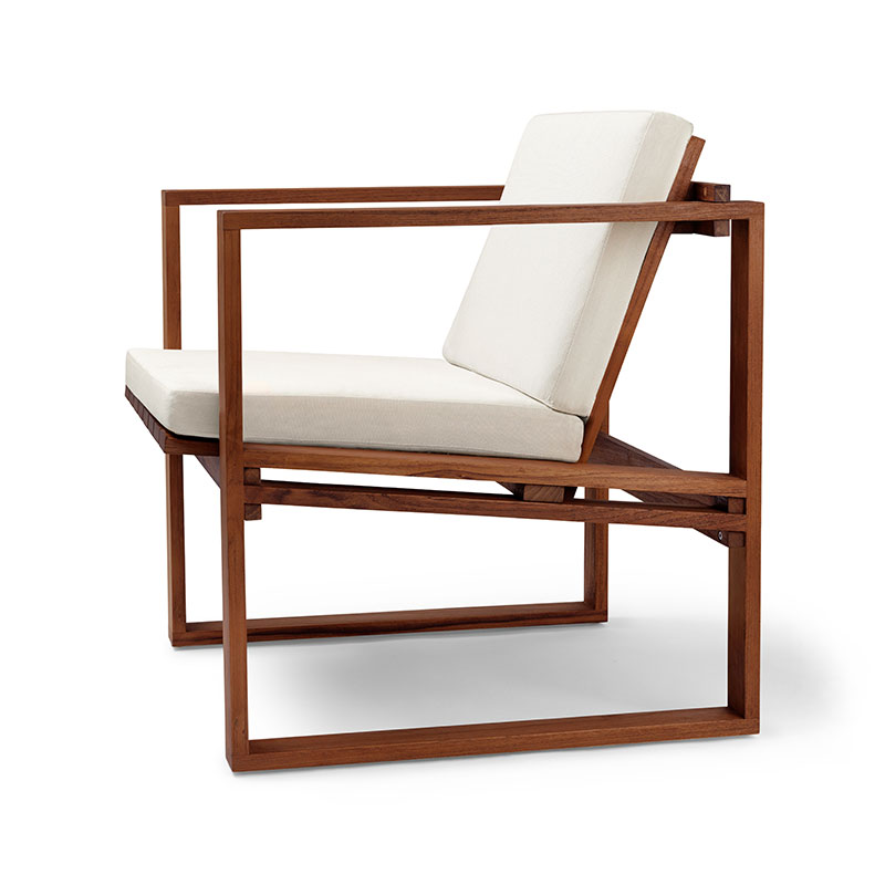 Carl Hansen BK11 Outdoor Lounge Armchair by Bodil Kjær Olson and Baker - Designer & Contemporary Sofas, Furniture - Olson and Baker showcases original designs from authentic, designer brands. Buy contemporary furniture, lighting, storage, sofas & chairs at Olson + Baker.
