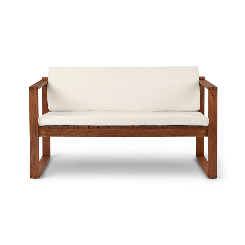 Carl Hansen BK12 Outdoor Two Seat Lounge Sofa by Bodil Kjær Olson and Baker - Designer & Contemporary Sofas, Furniture - Olson and Baker showcases original designs from authentic, designer brands. Buy contemporary furniture, lighting, storage, sofas & chairs at Olson + Baker.
