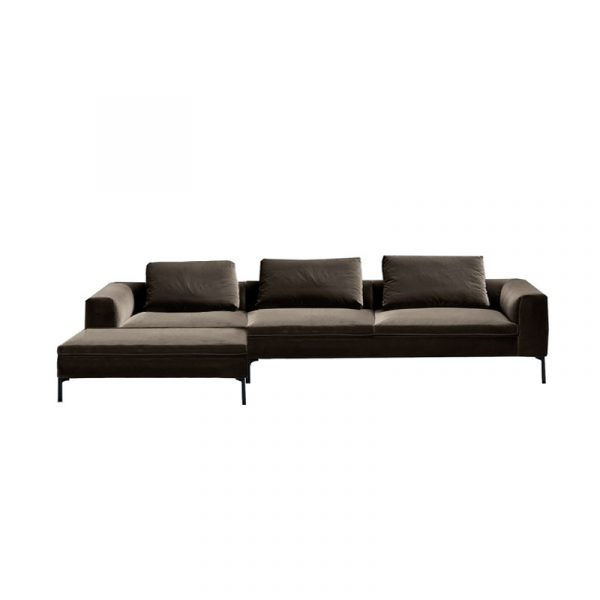 Cockcroft Left Hand Chaise Sofa in Velvet