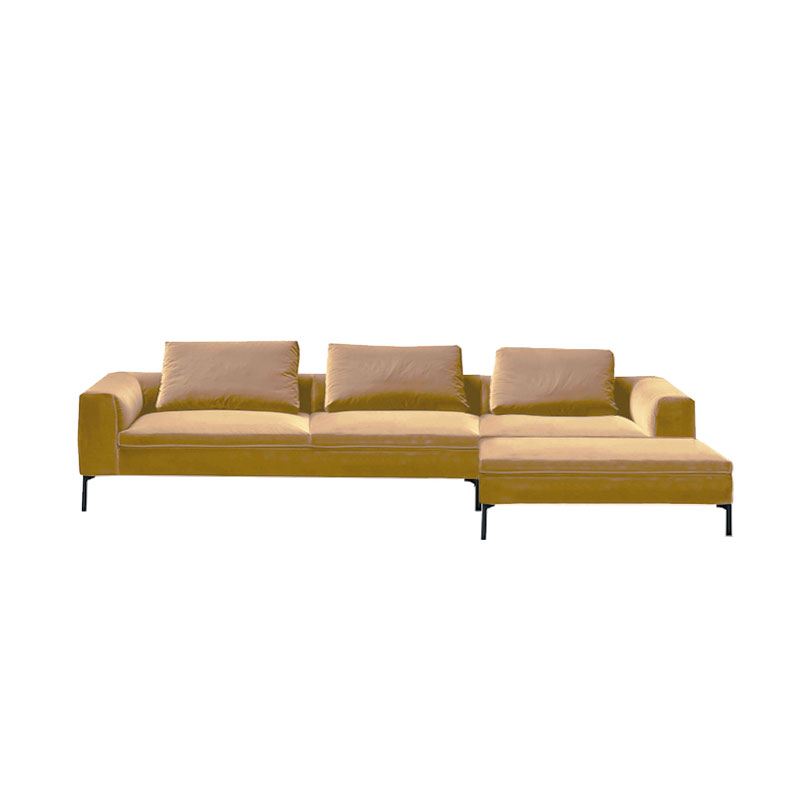 Olson and Baker Cockcroft Right Hand Chaise Sofa in Velvet by Olson and Baker Studio Olson and Baker - Designer & Contemporary Sofas, Furniture - Olson and Baker showcases original designs from authentic, designer brands. Buy contemporary furniture, lighting, storage, sofas & chairs at Olson + Baker.