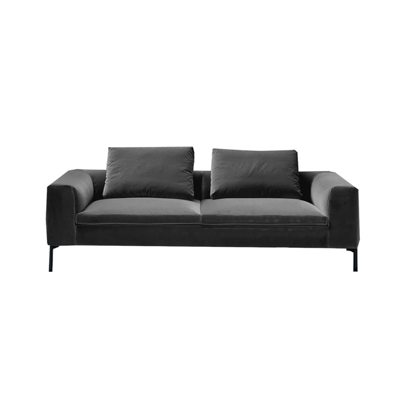 Olson and Baker Cockcroft Three Seat Sofa in Velvet by Olson and Baker Studio Olson and Baker - Designer & Contemporary Sofas, Furniture - Olson and Baker showcases original designs from authentic, designer brands. Buy contemporary furniture, lighting, storage, sofas & chairs at Olson + Baker.