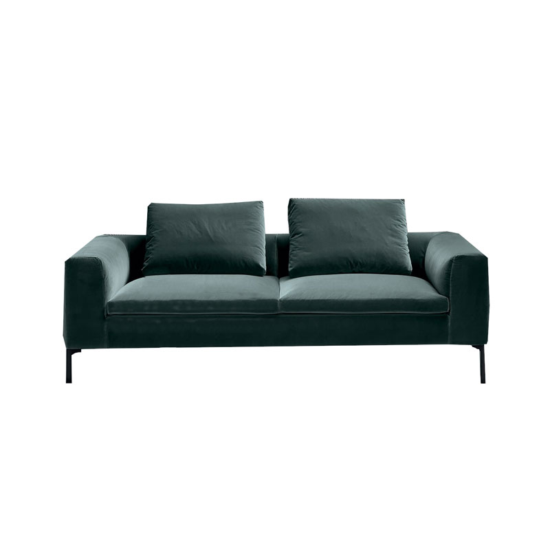 Olson and Baker Cockcroft Two Seat Sofa in Velvet by Olson and Baker Studio Olson and Baker - Designer & Contemporary Sofas, Furniture - Olson and Baker showcases original designs from authentic, designer brands. Buy contemporary furniture, lighting, storage, sofas & chairs at Olson + Baker.