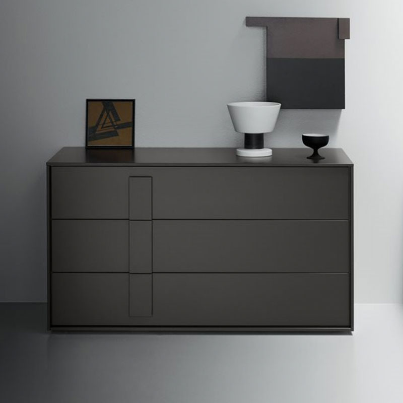 Crick Chest of Three Drawers by Olson and Baker Lifeshot 01 Olson and Baker - Designer & Contemporary Sofas, Furniture - Olson and Baker showcases original designs from authentic, designer brands. Buy contemporary furniture, lighting, storage, sofas & chairs at Olson + Baker.