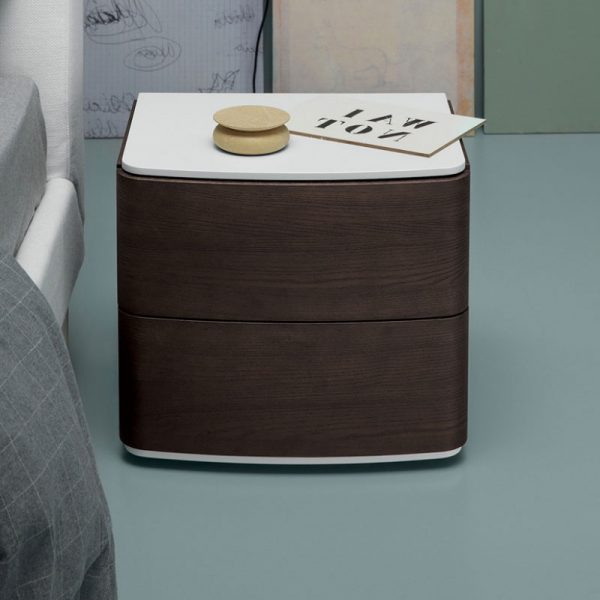 Dalton Bedside Table with Two Drawers