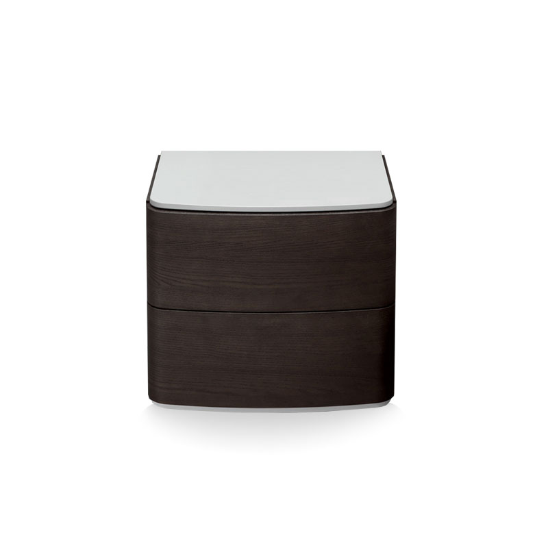 Olson and Baker Dalton Bedside Table with Two Drawers by Olson and Baker Studio Olson and Baker - Designer & Contemporary Sofas, Furniture - Olson and Baker showcases original designs from authentic, designer brands. Buy contemporary furniture, lighting, storage, sofas & chairs at Olson + Baker.