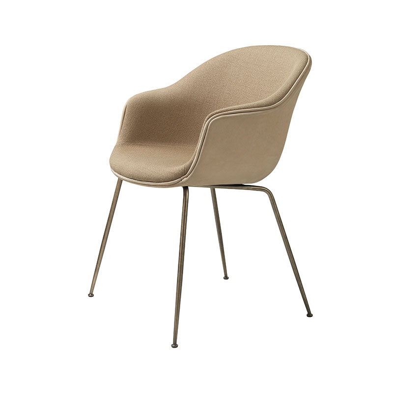 Gubi Bat Fully Upholstered Dining Chair by GamFratesi Olson and Baker - Designer & Contemporary Sofas, Furniture - Olson and Baker showcases original designs from authentic, designer brands. Buy contemporary furniture, lighting, storage, sofas & chairs at Olson + Baker.