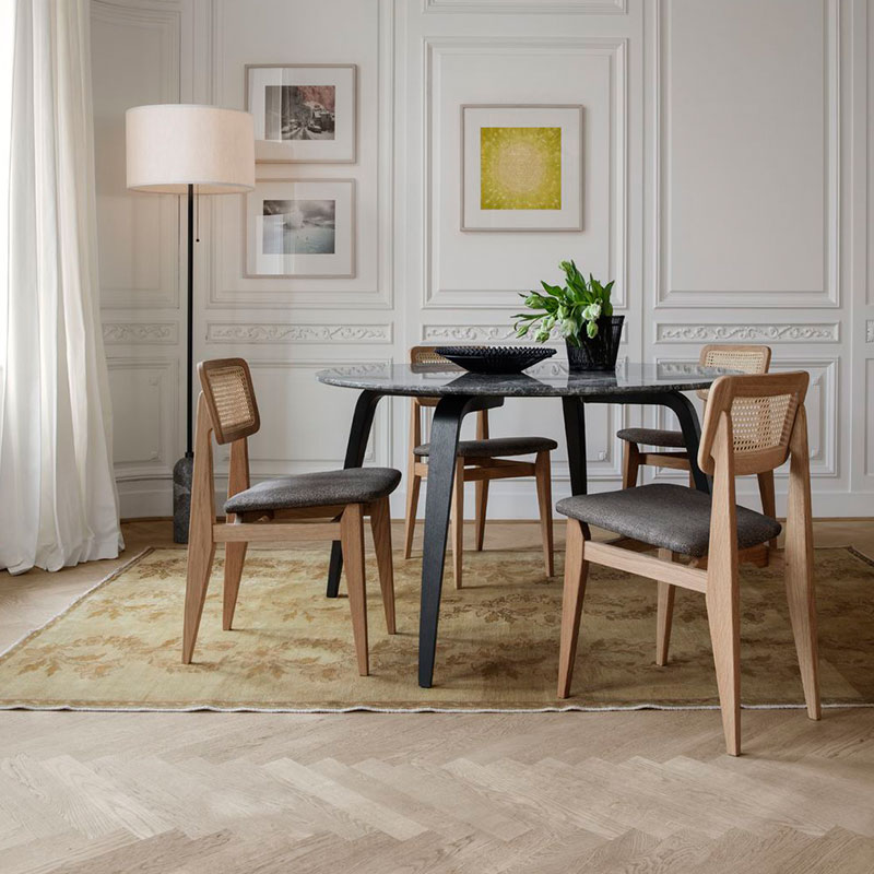 Gubi C-Chair Upholstered Dining Chair by Marcel Gascoin 3 Olson and Baker - Designer & Contemporary Sofas, Furniture - Olson and Baker showcases original designs from authentic, designer brands. Buy contemporary furniture, lighting, storage, sofas & chairs at Olson + Baker.