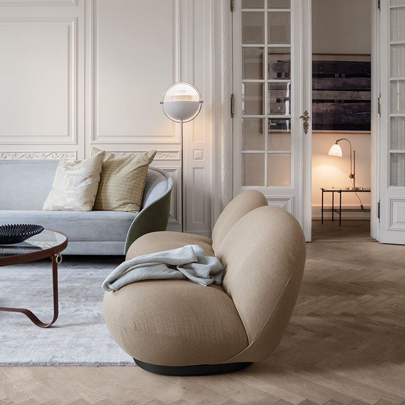 Gubi Pacha Fully Upholstered Lounge Chair by Pierre Paulin 7 Olson and Baker - Designer & Contemporary Sofas, Furniture - Olson and Baker showcases original designs from authentic, designer brands. Buy contemporary furniture, lighting, storage, sofas & chairs at Olson + Baker.