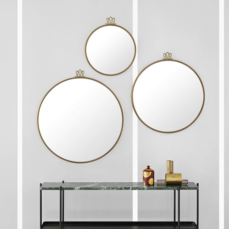 Gubi Randaccio Wall Mirror by Gio Ponti life 1 Olson and Baker - Designer & Contemporary Sofas, Furniture - Olson and Baker showcases original designs from authentic, designer brands. Buy contemporary furniture, lighting, storage, sofas & chairs at Olson + Baker.