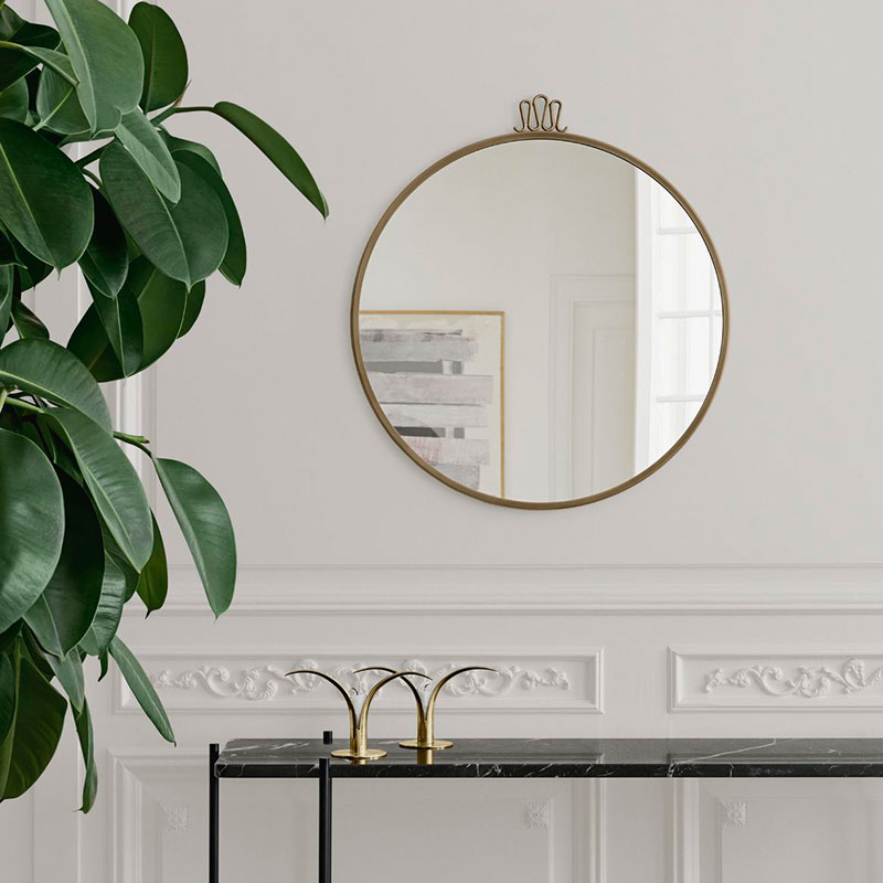 Gubi Randaccio Wall Mirror by Gio Ponti life 2 Olson and Baker - Designer & Contemporary Sofas, Furniture - Olson and Baker showcases original designs from authentic, designer brands. Buy contemporary furniture, lighting, storage, sofas & chairs at Olson + Baker.