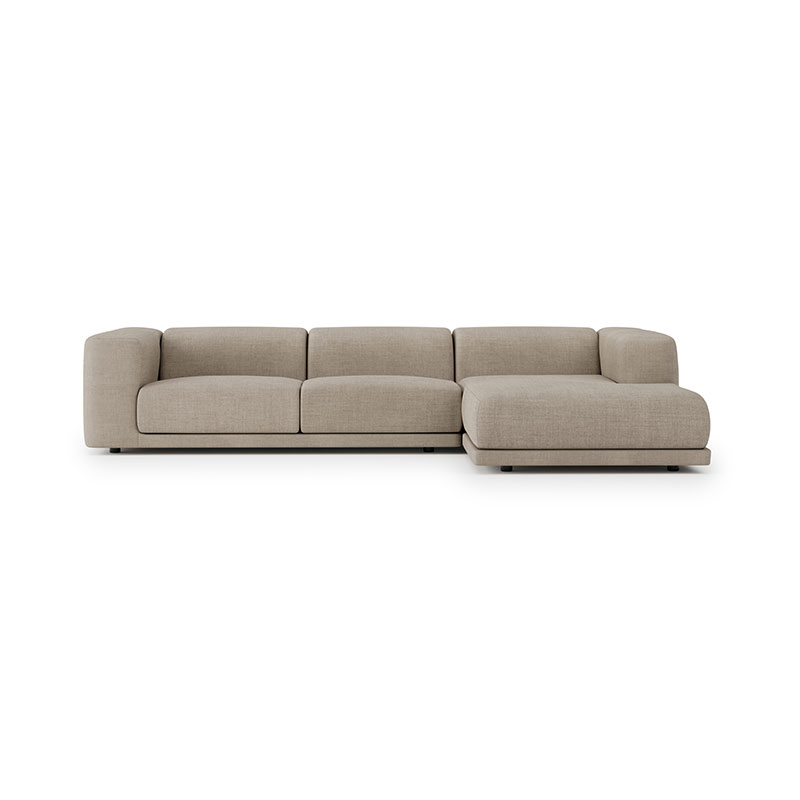 Case Furniture Kelston Three Seat Right Hand Facing Corner Sofa with Chaise by Matthew Hilton Olson and Baker - Designer & Contemporary Sofas, Furniture - Olson and Baker showcases original designs from authentic, designer brands. Buy contemporary furniture, lighting, storage, sofas & chairs at Olson + Baker.