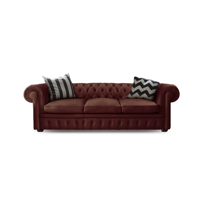 Olson and Baker Stanhope Three Seat Sofa in Leather by Olson and Baker Studio Olson and Baker - Designer & Contemporary Sofas, Furniture - Olson and Baker showcases original designs from authentic, designer brands. Buy contemporary furniture, lighting, storage, sofas & chairs at Olson + Baker.