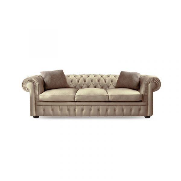 Stanhope Three Seat Sofa in Leather