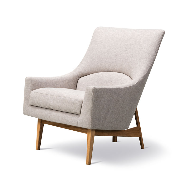 Fredericia A-Chair Lounge Chair by Jens Risom Olson and Baker - Designer & Contemporary Sofas, Furniture - Olson and Baker showcases original designs from authentic, designer brands. Buy contemporary furniture, lighting, storage, sofas & chairs at Olson + Baker.