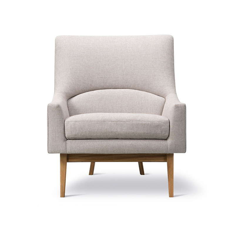 Fredericia A-Chair Lounge Chair Sunniva 717 Lacquered Oak 02 Olson and Baker - Designer & Contemporary Sofas, Furniture - Olson and Baker showcases original designs from authentic, designer brands. Buy contemporary furniture, lighting, storage, sofas & chairs at Olson + Baker.