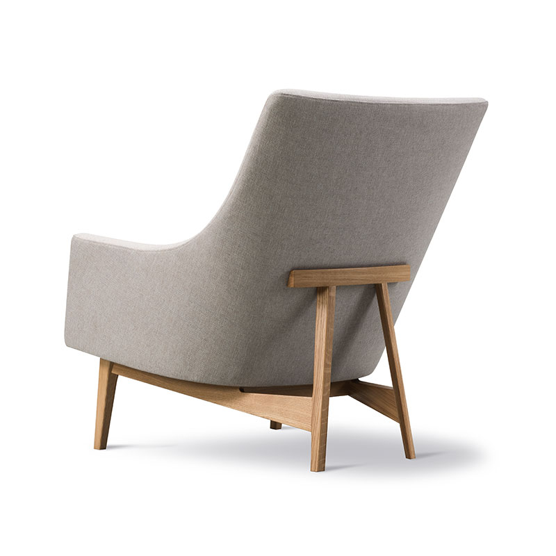 Fredericia A-Chair Lounge Chair Sunniva 717 Lacquered Oak 04 Olson and Baker - Designer & Contemporary Sofas, Furniture - Olson and Baker showcases original designs from authentic, designer brands. Buy contemporary furniture, lighting, storage, sofas & chairs at Olson + Baker.