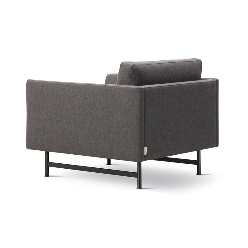 Fredericia Calmo 95 Armchair Fjord 391 Black 04 Olson and Baker - Designer & Contemporary Sofas, Furniture - Olson and Baker showcases original designs from authentic, designer brands. Buy contemporary furniture, lighting, storage, sofas & chairs at Olson + Baker.