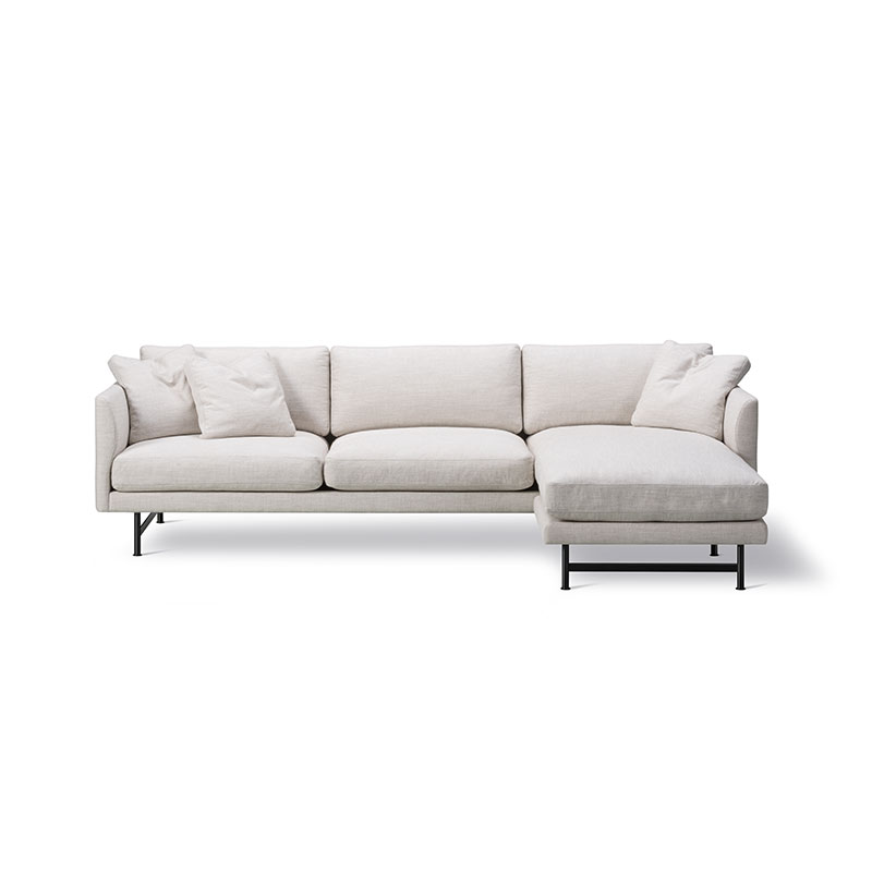 Fredericia Calmo 80 Three Seat Chaise by Hugo Passos Olson and Baker - Designer & Contemporary Sofas, Furniture - Olson and Baker showcases original designs from authentic, designer brands. Buy contemporary furniture, lighting, storage, sofas & chairs at Olson + Baker.