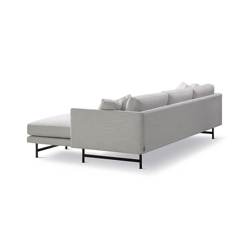 Fredericia Calmo 95 RH Chaise Sofa Sunniva 717 Black 04 Olson and Baker - Designer & Contemporary Sofas, Furniture - Olson and Baker showcases original designs from authentic, designer brands. Buy contemporary furniture, lighting, storage, sofas & chairs at Olson + Baker.