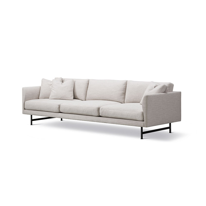Fredericia Calmo 95 Three Seat Sofa Ruskin 10 Black 02 Olson and Baker - Designer & Contemporary Sofas, Furniture - Olson and Baker showcases original designs from authentic, designer brands. Buy contemporary furniture, lighting, storage, sofas & chairs at Olson + Baker.