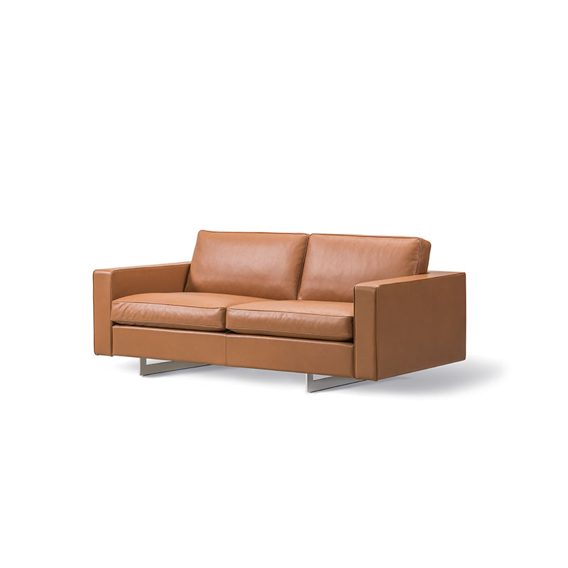 Fredericia Risom 65 Two Seat Sofa Fredericia 91 Nutshell 02 Olson and Baker - Designer & Contemporary Sofas, Furniture - Olson and Baker showcases original designs from authentic, designer brands. Buy contemporary furniture, lighting, storage, sofas & chairs at Olson + Baker.