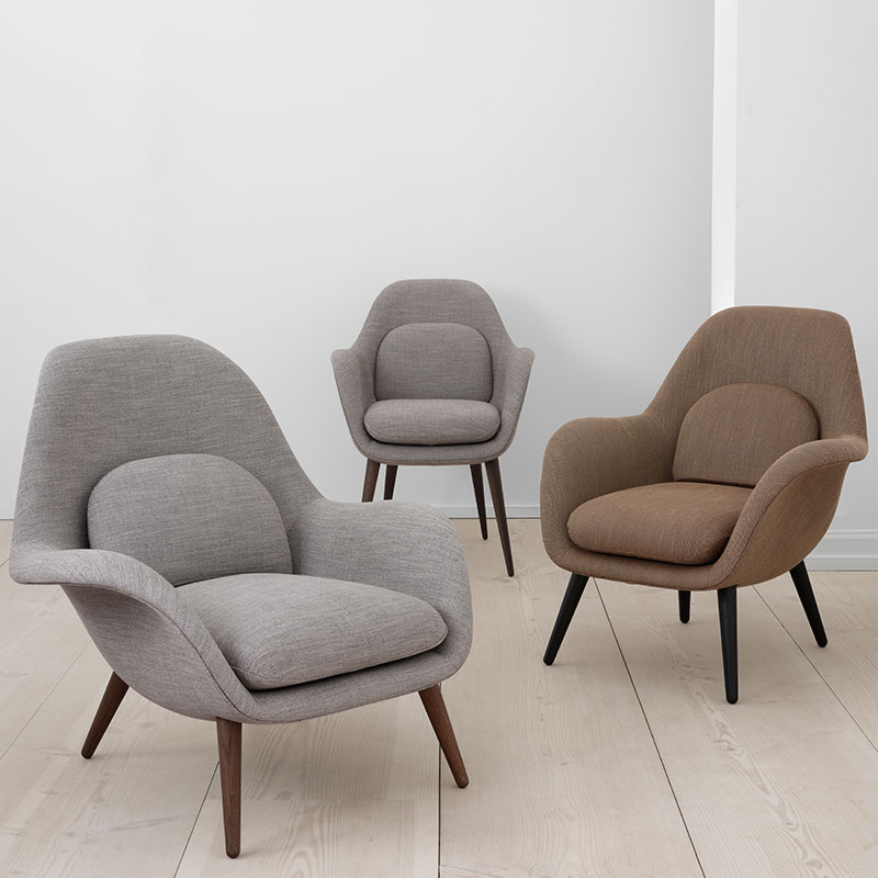 Fredericia Swoon Dining Chair Lifeshot 03 Olson and Baker - Designer & Contemporary Sofas, Furniture - Olson and Baker showcases original designs from authentic, designer brands. Buy contemporary furniture, lighting, storage, sofas & chairs at Olson + Baker.