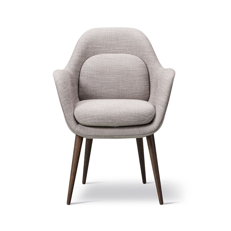 Fredericia Swoon Dining Chair Ruskin 33 Smoked Oil Oak 04 Olson and Baker - Designer & Contemporary Sofas, Furniture - Olson and Baker showcases original designs from authentic, designer brands. Buy contemporary furniture, lighting, storage, sofas & chairs at Olson + Baker.
