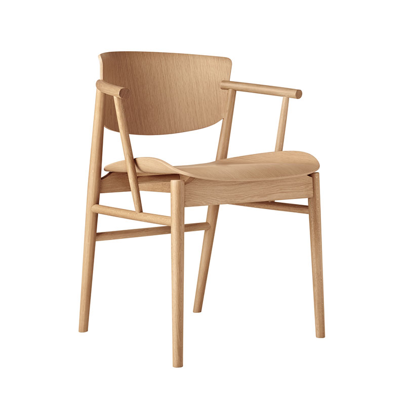 Fritz Hansen N01 Chair by Nendo Oak life 2 Olson and Baker - Designer & Contemporary Sofas, Furniture - Olson and Baker showcases original designs from authentic, designer brands. Buy contemporary furniture, lighting, storage, sofas & chairs at Olson + Baker.