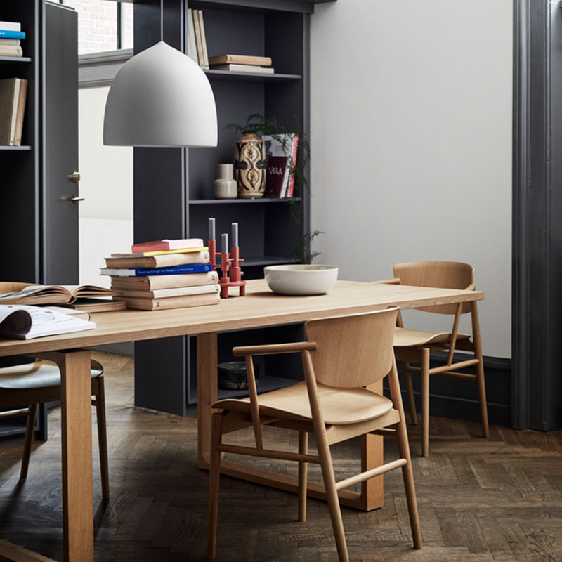 Fritz Hansen N01 Chair by Nendo Oak life 4 Olson and Baker - Designer & Contemporary Sofas, Furniture - Olson and Baker showcases original designs from authentic, designer brands. Buy contemporary furniture, lighting, storage, sofas & chairs at Olson + Baker.