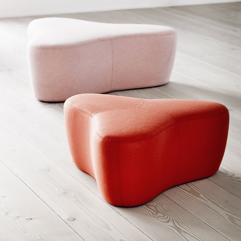 Softline Chat Pouf Lifeshot 01 Olson and Baker - Designer & Contemporary Sofas, Furniture - Olson and Baker showcases original designs from authentic, designer brands. Buy contemporary furniture, lighting, storage, sofas & chairs at Olson + Baker.